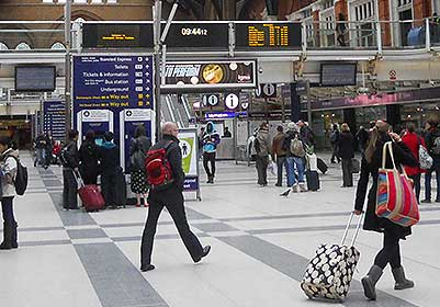 Stansted Airport to from London Liverpool Street via Stratford
