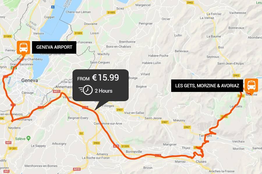 Geneva to Les Gets